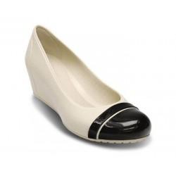Crocs Shoes, Standard Fit Olivia Lined Wedge Espresso