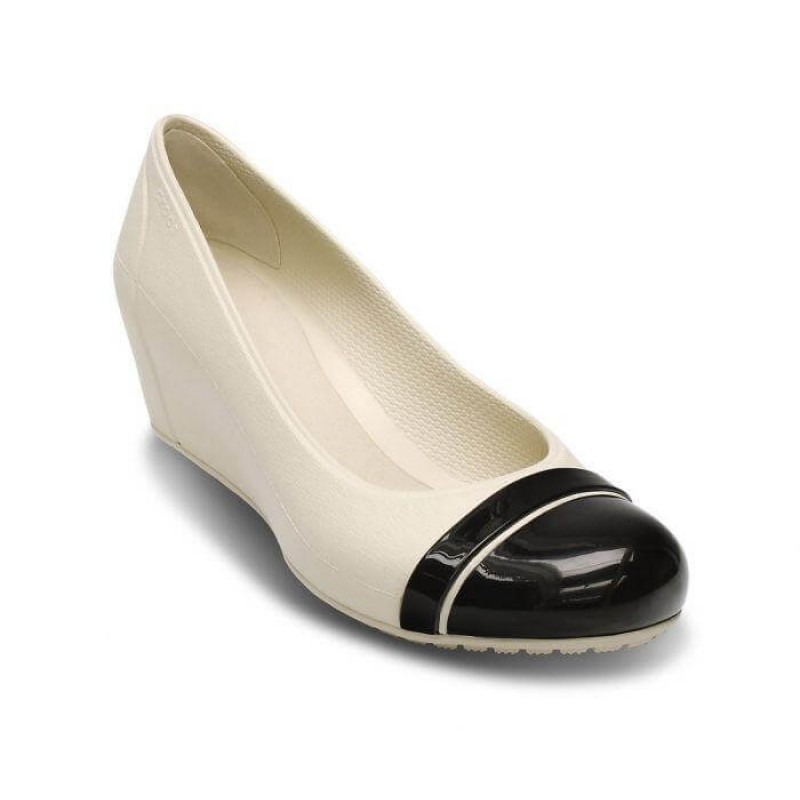 Crocs Shoes, Standard Fit Olivia Lined Wedge Espre...