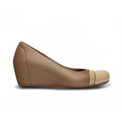 Crocs Shoes, Cap Toe Bronze/Gold Women Wedge