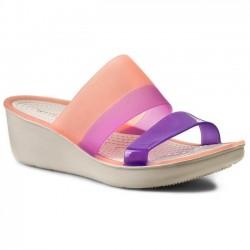 Crocs Shoes, Colorblock Wedge Standard Fit Shoes