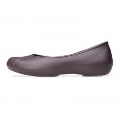 Crocs Shoes, Olivia Lines Flat Espresso Shoes