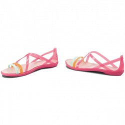 Crocs Sandal, Isabella Cut Strappy Flats Standard Fit