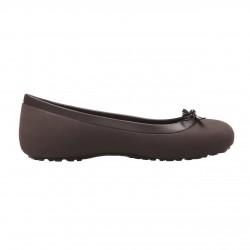 Crocs Shoes, Espresso Bow Flat For Women's