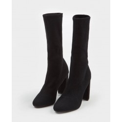Pimkie Boots, Suede Elasticated High-Heeled Boots