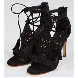 Pimkie Sandal, High Soft Heels Sandal, Black