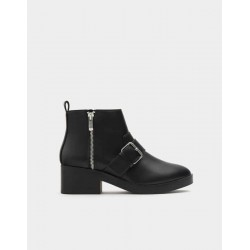 PULL&BEAR Boots, Flat Buckle Boot For Women's