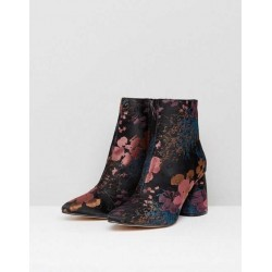 Stradivarius Boots, Ankle Flowers Boots For Women's