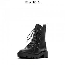 ZARA Boots, Women Leather Biker Ankle Boots