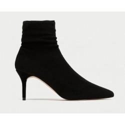 ZARA Boots Socks Heeled Boots