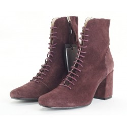 ZARA Boots, Suede Lace-Up Boots