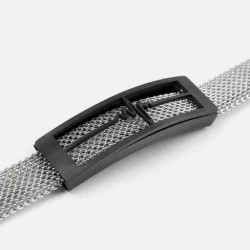 Silver Steel Mesh Bracelet For Men's