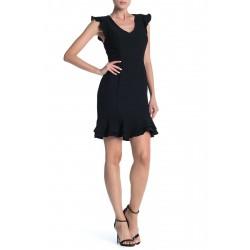 19 COOPER Dress, Lace Back Flounce Dress