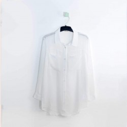 24COLOURS Shirt, White with Special Design