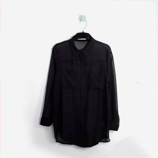24COLOURS Shirt, Black Basic with Special Design