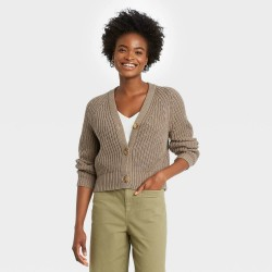 A New Day Sweater, V-Neck Button-Front Sweater