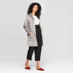 A New Day Coat, Leopard Print Casual Fit Long Sleeve Fleece Coat