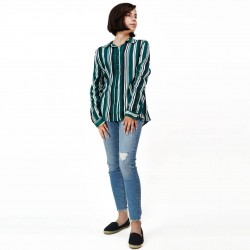 Bailey & Chlone Shirt, Striped with Long Sleeves For Women's