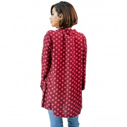 Silk Weavers Shirt, Print Long Sleeves Shirt For Women's