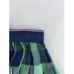 Benetton Skirt, Check Viscose Skirt For Girl's