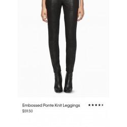 Calvin Klein Pants, Slim Fit Embossed Pattern Pants