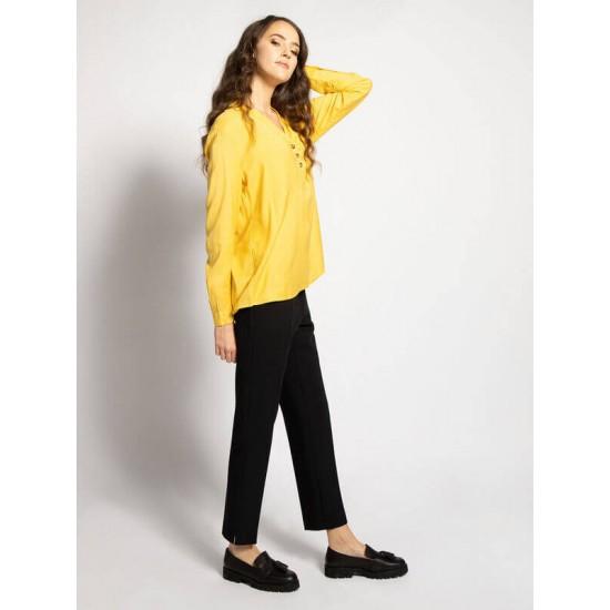 ESPRIT Blouse\Top, For Women's Long Sleeve Blouse, Yellow Colour