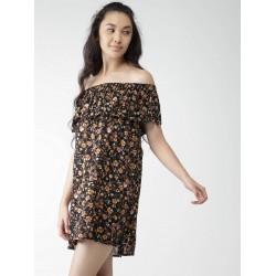 FOREVER 21Dress, Yellow Loose Off-shoulder Short Dress