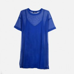 FOREVER 21Dress 'Two Piece' Mesh Mock Neck Mini Dress
