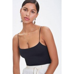 FOREVER 21Body Suit, Without Sleeves, Black Colour