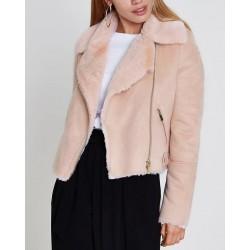 Glamorous Jacket, Faux Sheepskin Coat For Women