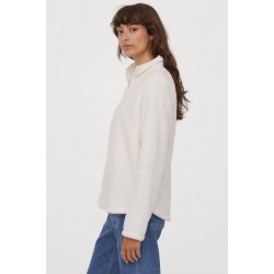 H&M Sweater, Faux Shearling Sweater For Women's