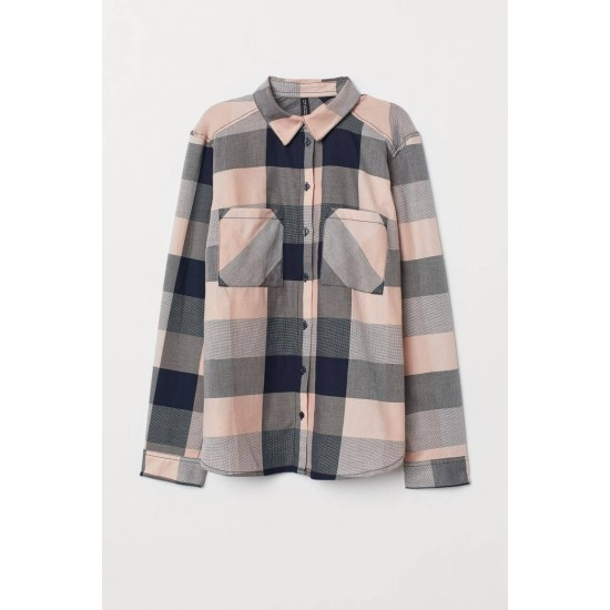 H&M Shirt, Checked Shirt with Sleeve For Women's