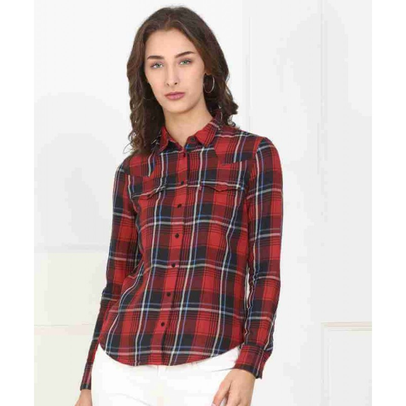 Levi's Shirt, Checked Shirt with Sleeve For Women'...