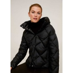 MANGO Jacket, Quilted Puffer Jacket with High Neck