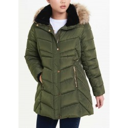 Papaya Coat, Padded Parka Coat