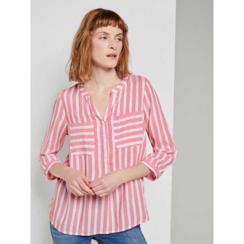 MONTEGO Shirt, Women's Striped Modern Shirt