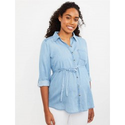 Motherhood Shirt, For Women's with Front Buttons
