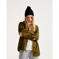 PULL&BEAR Jacket ,Oversized ripped safari jacket