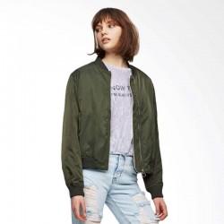 PULL&BEAR Jacket, Bomber Green Jacket