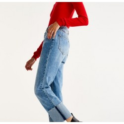 PULL&BEAR Jeans, Boyfriend jeans with rolled-up hems.
