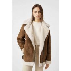 PULL&BEAR Jacket, Brown suede jacket
