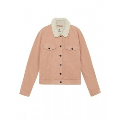 PULL&BEAR Jacket, Quilted with Faux Fur Collar