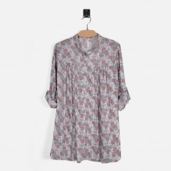 Silk Weavers Shirt, Plaid Long Shirt For Women's