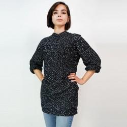 Silk Weavers Shirt, Dot Long Shirt For Women's