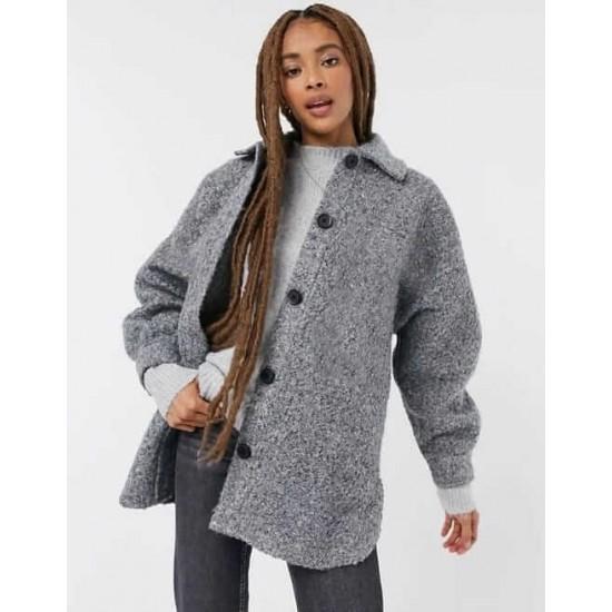 Stradivarius Overshirt, Wool Winter Overshirt For Women's