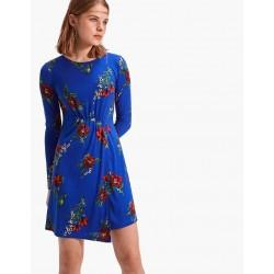 STRADIVARIUS Short knit dress in blue