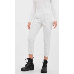 Stradivarius Trouser, Slim-Fit Striped Tailored Trousers