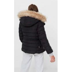 Stradivarius Jacket, Puffer Coat with a Hood