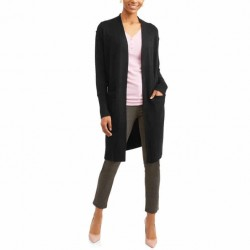 TIME AND TRU Cardigan, Two Pocket Duster, Relaxed Fit