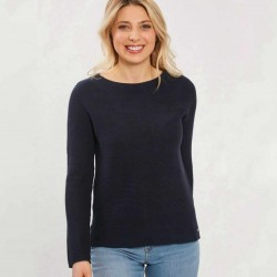 TOM TAILOR Sweater, Ottoman Structure, 100% COTTON