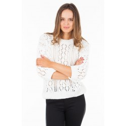 TOM TAILOR Blouse, Knitted Off White Blouse